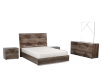 Brown Grey Bedroom Set - King product photo