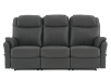 Dark Grey Reclining Upholstered Sofa product photo