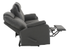 Dark Grey Reclining Upholstered Sofa product photo other05 S