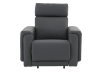 Dark Grey Reclining, Rocking and Motorized Leather Armchair with Adjustable Headrest - ELRAN product photo other11 S