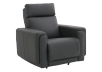 Dark Grey Reclining, Rocking and Motorized Leather Armchair with Adjustable Headrest - ELRAN product photo other01 S