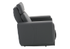 Dark Grey Reclining, Rocking and Motorized Leather Armchair with Adjustable Headrest - ELRAN product photo other02 S