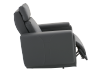 Dark Grey Reclining, Rocking and Motorized Leather Armchair with Adjustable Headrest - ELRAN product photo other03 S