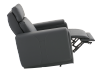 Dark Grey Reclining, Rocking and Motorized Leather Armchair with Adjustable Headrest - ELRAN product photo other04 S