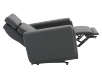 Dark Grey Reclining, Rocking and Motorized Leather Armchair with Adjustable Headrest - ELRAN product photo other05 S