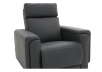 Dark Grey Reclining, Rocking and Motorized Leather Armchair with Adjustable Headrest - ELRAN product photo other06 S