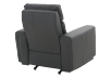 Dark Grey Reclining, Rocking and Motorized Leather Armchair with Adjustable Headrest - ELRAN product photo other08 S