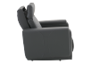 Dark Grey Reclining, Rocking and Motorized Leather Armchair with Adjustable Headrest - ELRAN product photo other10 S