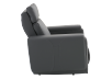 Dark Grey Reclining, Rocking and Battery Motorized Leather Armchair with Adjustable Headrest - ELRAN product photo other02 S