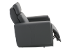 Dark Grey Reclining, Rocking and Battery Motorized Leather Armchair with Adjustable Headrest - ELRAN product photo other03 S