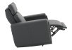 Dark Grey Reclining, Rocking and Battery Motorized Leather Armchair with Adjustable Headrest - ELRAN product photo other04 S