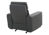Dark Grey Reclining, Rocking and Battery Motorized Leather Armchair with Adjustable Headrest - ELRAN product photo other08 S