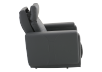 Dark Grey Reclining, Rocking and Battery Motorized Leather Armchair with Adjustable Headrest - ELRAN product photo other10 S