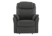 Dark Grey Reclining, Rocking and Battery Motorized Upholstered Armchair product photo
