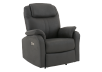 Dark Grey Reclining, Rocking and Battery Motorized Upholstered Armchair product photo other01 S