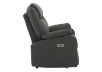 Dark Grey Reclining, Rocking and Battery Motorized Upholstered Armchair product photo other02 S