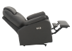 Dark Grey Reclining, Rocking and Battery Motorized Upholstered Armchair product photo other05 S