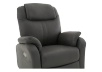 Dark Grey Reclining, Rocking and Battery Motorized Upholstered Armchair product photo other06 S