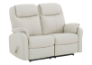 Ivory Reclining Loveseat with Genuine Leather Seats product photo other01 S