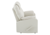 Ivory Reclining Loveseat with Genuine Leather Seats product photo other02 S