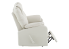Ivory Reclining Loveseat with Genuine Leather Seats product photo other03 S