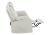 Ivory Reclining Loveseat with Genuine Leather Seats product photo other04 S