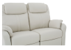 Ivory Reclining Loveseat with Genuine Leather Seats product photo other06 S
