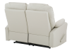 Ivory Reclining Loveseat with Genuine Leather Seats product photo other08 S