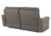 Brown-Grey Reclining and Battery Motorized Upholstered Sofa with Adjustable Headrests - ELRAN product photo other08 S
