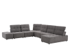 Grey Upholstered Modular Sectional Sofa with Adjustable Backrests and Headrests product photo other01 S