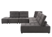 Grey Upholstered Modular Sectional Sofa with Adjustable Backrests and Headrests product photo other02 S