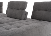 Grey Upholstered Modular Sectional Sofa with Adjustable Backrests and Headrests product photo other09 S