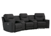 Dark Grey Home Theater Reclining and Motorized Upholstered Sofa product photo other01 S