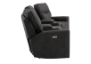 Dark Grey Home Theater Reclining and Motorized Upholstered Sofa product photo other02 S
