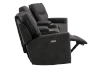 Dark Grey Home Theater Reclining and Motorized Upholstered Sofa product photo other04 S