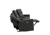 Dark Grey Home Theater Reclining and Motorized Upholstered Sofa product photo other05 S