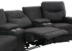 Dark Grey Home Theater Reclining and Motorized Upholstered Sofa product photo other06 S