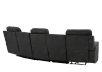 Dark Grey Home Theater Reclining and Motorized Upholstered Sofa product photo other08 S