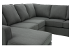 Grey Upholstered Sectional Sofa product photo other03 S