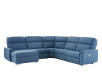 Blue Reclining and Motorized Upholstered Sectional Sofa with Adjustable Headrests - ELRAN product photo other01 S