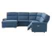 Blue Reclining and Motorized Upholstered Sectional Sofa with Adjustable Headrests - ELRAN product photo other03 S