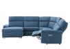 Blue Reclining and Motorized Upholstered Sectional Sofa with Adjustable Headrests - ELRAN product photo other04 S