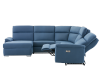 Blue Reclining and Motorized Upholstered Sectional Sofa with Adjustable Headrests - ELRAN product photo other05 S