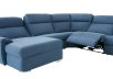 Blue Reclining and Motorized Upholstered Sectional Sofa with Adjustable Headrests - ELRAN product photo other06 S