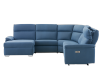 Blue Reclining and Motorized Upholstered Sectional Sofa with Adjustable Headrests - ELRAN product photo other11 S