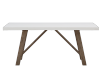 White Table with Grey Acacia Legs product photo
