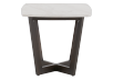 Brown Wood End Table with Marble Look Top product photo