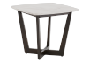 Brown Wood End Table with Marble Look Top product photo other01 S