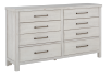 White 8-Drawer Dresser product photo other01 S