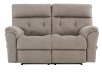 Brown-Grey Reclining Upholstered Loveseat - ELRAN product photo